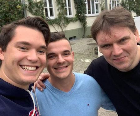 (v.l.) Tim, Jan Zimmermann und Christian Hempel